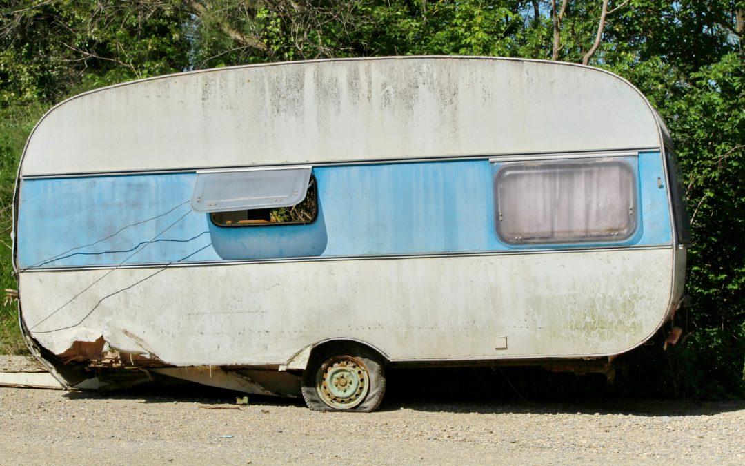 Kvitter seg med gamle campingvogner