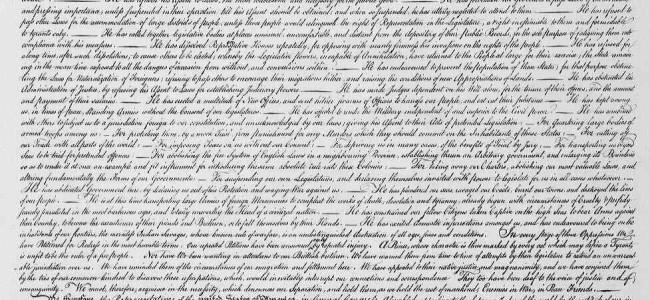 Original utgave av USAs uavhengighetserklæring funnet i gammelt maleri