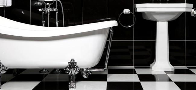 Bruk sikre lamper på badet