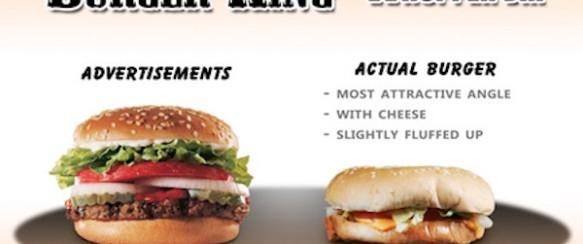 Utrolig, slik maten er annonsert og slik den virkelig ser ut… særlig nr. 7